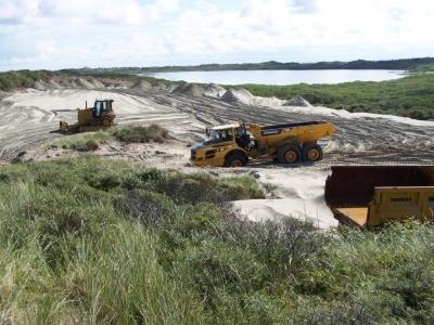 Bild 0 von Sandtransporte am Hammersee sind im vollen Gange