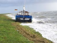 Bild 1 von Katamaran trieb beim Sturm auf den Hafendeich