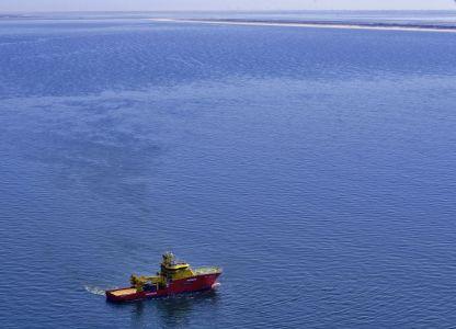 Bild 0 von Norwegisches Spezialschiff für Inspektionsarbeiten vor Juist