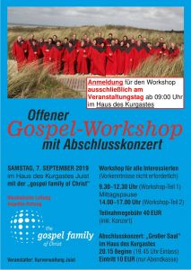 Bild 0 von Offener Gospel Workshop mit The gospel family of Christ