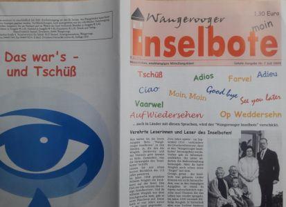 """Bild 0 von Der """"Wangerooger Inselbote"""" ging nach 110 Jahren in den Ruhestand"""