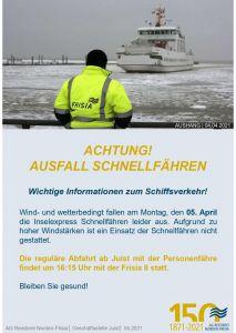 Bild 0 von Inselexpress-Schnellfähren der Norden-Frisia fallen am Montag aus