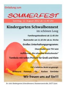 Bild 0 von Sommerfest Kindergarten Schwalbennest