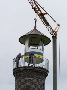 Bild 0 von Das Laternenhaus steht wieder auf seinem Turm