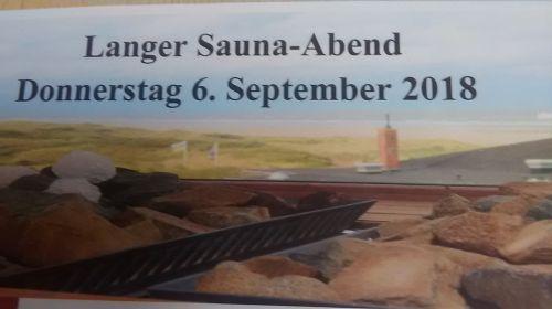Bild 0 von Langer Saunaabend im TöwerVital am 6. September 2018