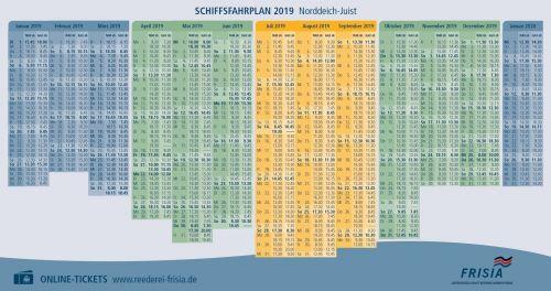 Bild 0 von Fahrplan 2019 in kompakter Form