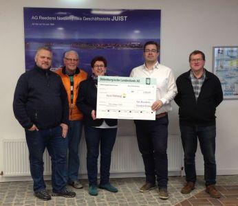 Bild 0 von Reederei Norden-Frisia spendet der Juist-Stiftung