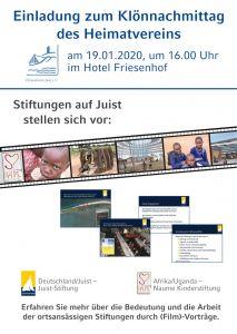 """Bild 0 von Klönnachmittag zum Thema """"Stiftungen auf Juist"""""""