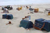 Bild 5 von Weitere Fotos von der Windhose am Juister Strand